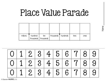 Place Value Parade - Understanding Place Value