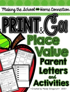 Place Value Parent Letters and Activities (Print and Go! Series)