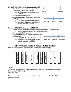 Place Value Parent Study Guide fourth grade TEKS