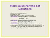 Place Value Parking Lot