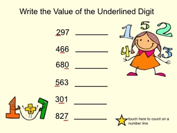 Place Value Part 2-Value of a digit-Interactive Smartboard Activity