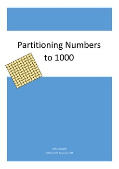 Place Value: Partitioning 3-digit numbers