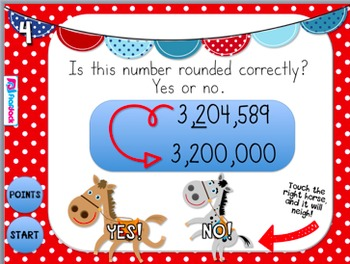 Place Value Partners: Rounding Rodeo PowerPoint Game FREEBIE
