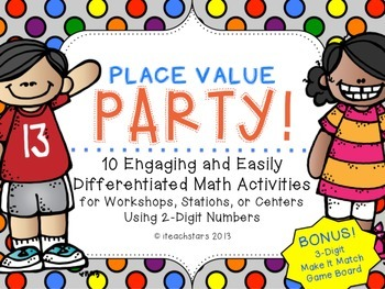 Place Value Party Engaging and Differentiated Math Activities {Ink Saver}