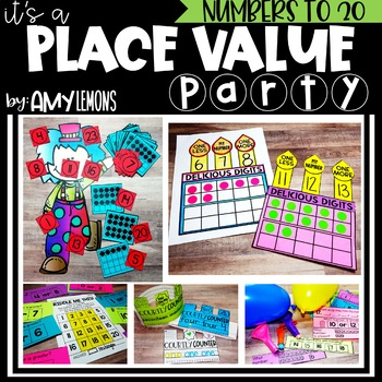 Place Value Party {Kindergarten:  Numbers to 20}