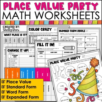 Place Value Worksheets By Shelly Rees Teachers Pay Teachers