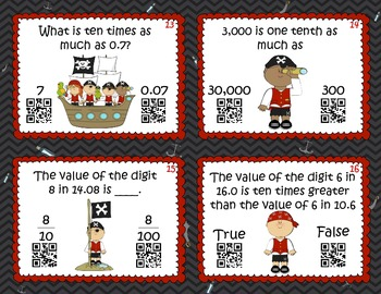 Place Value Patterns QR Code Frenzy