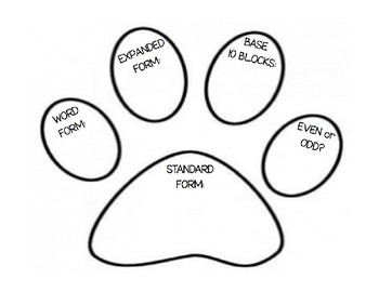 Place Value Paw