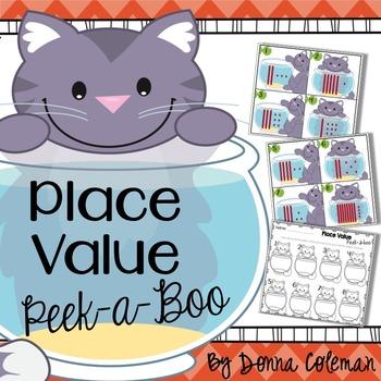 Place Value Peek-a-Boo {Freebie}