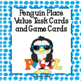 Place Value Games- Place Value Penguins Game Cards and Task Cards