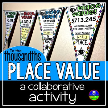 Place Value Pennant to the thousandths