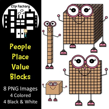 Place Value People Clip Art
