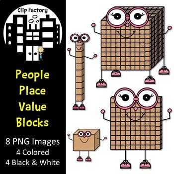 Place Value People Clip Art