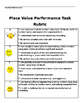 Place Value Performance Task WITH Rubric!!!!