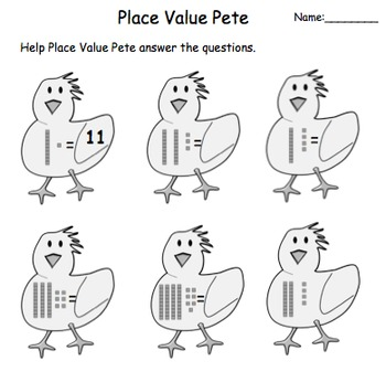 Place Value Pete: Interactive Smartboard Game and Printables for Gr. 1