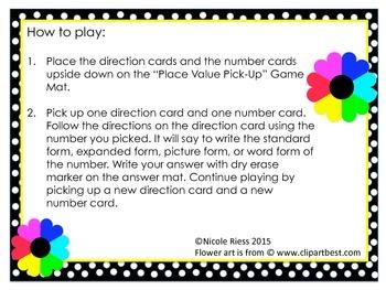 Place Value Pick-Up! 2nd Grade Math Center Activity