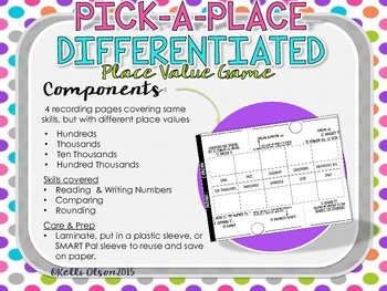 Place Value: Pick a Place Value Game {Editable Spinners}