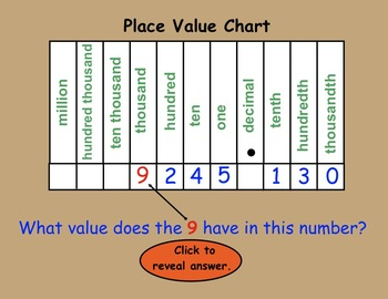 Place Value Picker Game (Halloween Theme):  Interactive Smartboard lesson