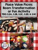 Place Value Picnic Room Transformation Activity TEKS 3.2A 3.2B 3.2C 3.2D 3.4C