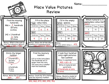 Place Value Pictures