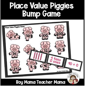Place Value Piggies Bump Game