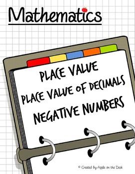 Math: Place Value - Place Value of Decimals - Negative Num