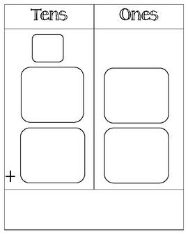 Place Value Place mat - Ones and Tens