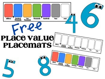 Place Value Place mats - FREE