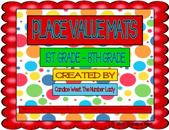 Place Value Placemats, 1st-8th Grade