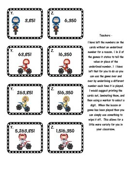 Place Value - Places Please Game Pack