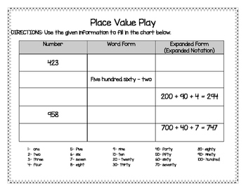 Place Value Play