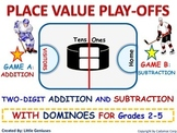 Hockey Math Game ~ Subtraction with Regrouping + Addition Variations