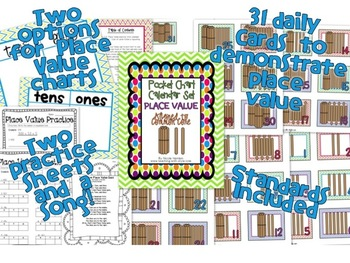 Place Value Pocket Chart Calendar Set