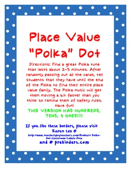 "Place Value ""Polka"" (Up to 999)"