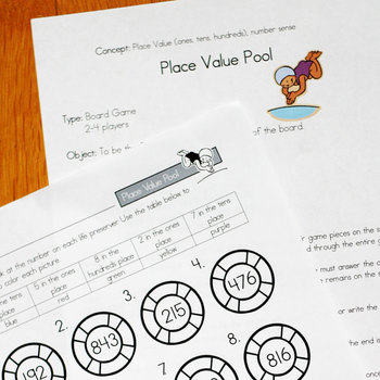 Place Value Pool Math Game