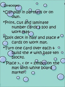 Place Value Pool Party Common Core Learning Activity