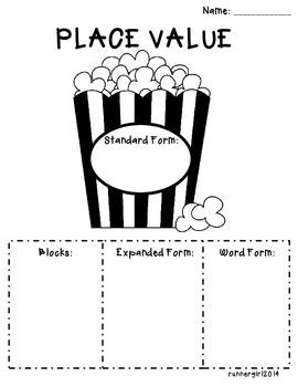 Place Value Popcorn