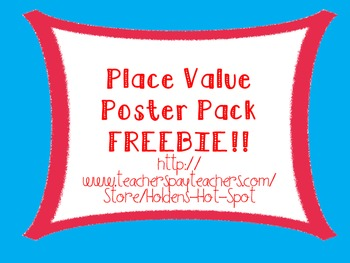 Place Value Poster Pack FREEBIE!