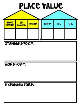 Word Form Standard And Expanded Chart Worksheets & Teaching ...