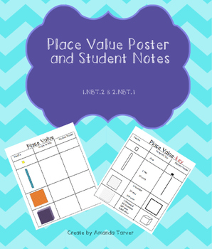 Place Value Poster and Student Notes