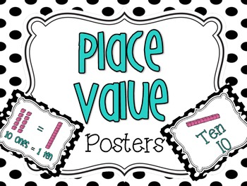 Place Value Posters {Base ten blocks}
