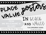 Place Value Posters Black and White
