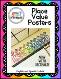 Place Value Posters - English and Spanish labels