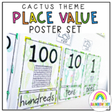 Place Value Posters / Interactive Place Value Chart {Cactus / Succulent theme}