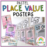 Place Value Posters / Interactive Place Value Chart {Pastel theme}