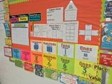 Place Value Posters & Math Wall Calendar | EDITABLE & Bilingual