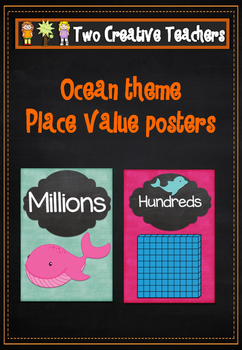 Place Value Posters - Ocean Theme