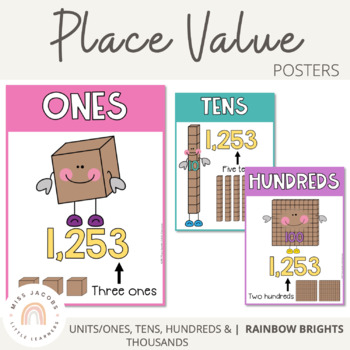 Place Value Posters {Rainbow Theme}