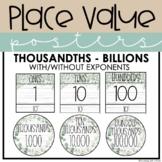 Place Value Posters | Thousandths - Billions