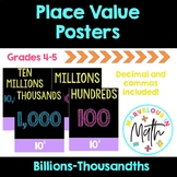 Place Value Posters black on brights